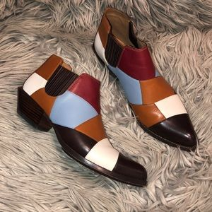 Coach patchwork autumn pointed western booties 8